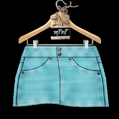 jazzitude Turquoise Denim Skirt